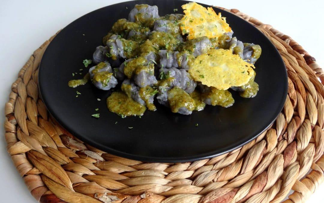 Gnocchi purple & Green