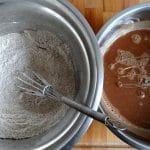 Moelleux au chocolat Vegan, Ingrédients secs & liquides   L'Atelier de Noisette