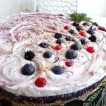 Cheesecake végétale mûres & myrtilles, Miam ! | L'Atelier de Noisette