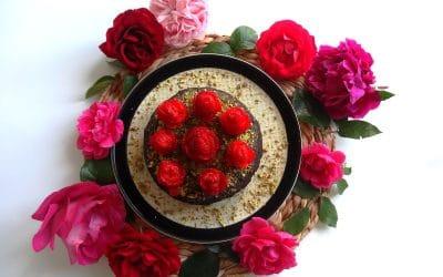 Gâteau Choco-Noisette aux fraises