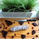 Saucisson choco-amande & cranberries
