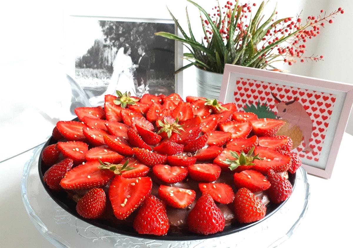 Tarte fine fraises & chocolat | L'Atelier de Noisette